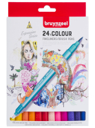 Pisaki Fineliner Brush pen Creatives Bruynzeel 24 szt.