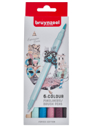 Pisaki  Fineliner Brush Pen Creatives Bruynzeel  Venice 6 szt.