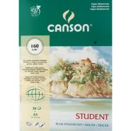 Blok rysunkowy STUDENT, Canson, 160g 50 Ark. - A4