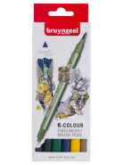 Pisaki  Fineliner Brush Pen Creatives Bruynzeel New York 6 szt.