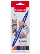Pisaki  Fineliner Brush Pen Creatives Bruynzeel Amsterdam 6 szt.