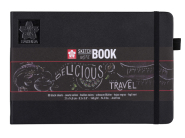 Sketch Note Book Black Paper 140  g 21x14,8 cm Sakura
