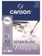Blok do akwareli Canson Imagine 50 ark. 200g  - A2