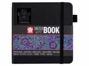 Sketch Note Book Black Paper 140  g 12 x 12 cm Sakura