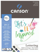 Blok Lettering Mix-media 200G  24x32 Canson