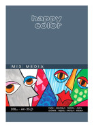 Blok Mix Media happy color A4 200g 25 ark