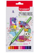 Cienkopisy Bruynzeel Fineliner set 24 Basic Colours